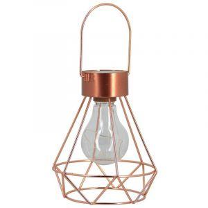 Xanlite Lanterne à LED solaire décorative en cuivre |
