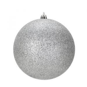 25 boules de Noël argent (6 cm)