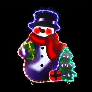Bonhomme de neige lumineux Edgar Multicouleur 96 LED
