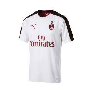 Puma AC Milan Stadium SS with Sponsor, T-Shirt pour Homme L Blanc/Noir