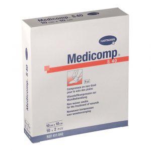 Hartmann Medicomp - Compresses 10 sachets x2 (10 x 10 cm)