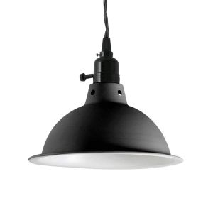 Faro PEPPER-Suspension Métal Ø22cm Noir