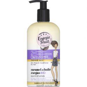 Energie Fruit Caramel et huile d'argan Bio - 2 en 1 masque + après-shampooing cheveux secs