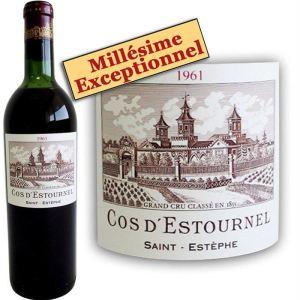 Cos d'Estournel 1961 - 1 x Vin rouge, Bordeaux (Saint Estèphe)