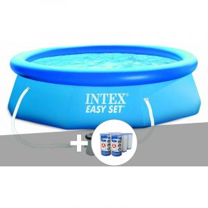 Intex Kit piscine autoportée Easy Set 3,05 x 0,76 m + épurateur + 6 cartouches