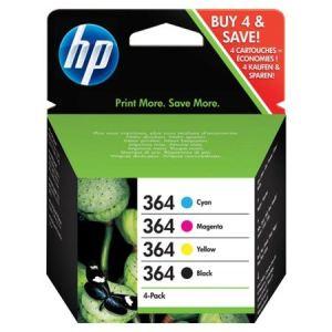 HP E5Y86AE - Combo Pack de 4 cartouches d'encre n°364 (noir, jaune, cyan, magenta)
