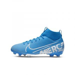 Nike Mercurial Superfly 7 Academy MG New Lights - Bleu Foncé/Blanc/Bleu Foncé Enfant - Bleu - Taille EU 35½/US 3½Y