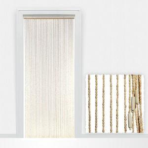 Rideau de porte Perles Bois (90 x 220 cm)