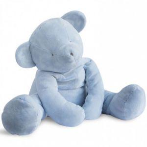 Doudou et Compagnie Peluche géante Ours bleu 70 cm Aussi doux qu'un doudou