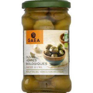 Gaea Olives vertes biologiques farcies à l'ail