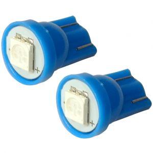 Aerzetix 2x ampoule T10 W5W 12V LED SMD bleu veilleuses éclairage intérieur seuils de porte plafonnier pieds lecteur de carte coffre compartiment moteur
