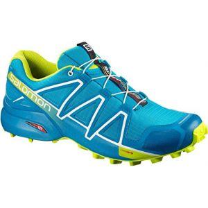 Salomon Speedcross 4 - Chaussures à Randonnée - Homme - Bleu (Hawaiian Surf/Acid Lime/White) - 46 2/3 EU