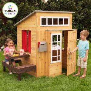 KidKraft 00182 - Cabane pour enfants d'extérieur moderne