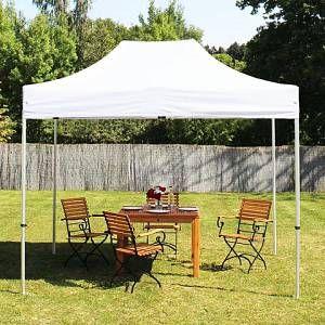 Intent24 Tente pliante 3x2 m sans bâches de côté blanc PROFESSIONAL tente pliable ALU pavillon barnum.FR