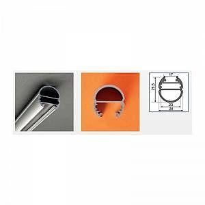 Vision-El Profilé aluminium anodisé LED OVALE 2000 mm pour bandeau LED -