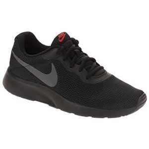 Nike Tanjun, Chaussures de Running Homme, Multicolore (Black/Dark Grey/Red Orbit/White 015), 42.5 EU