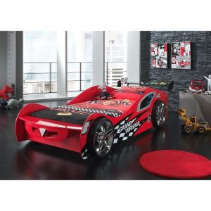 Lit voiture Grand Turismo pour enfant 90 x 200 cm