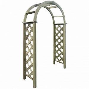 VidaXL Arche avec treillis Bois de pin vert imprégné