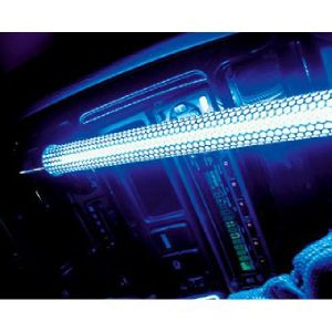 Tube Neon Effet Verre Brise - 20cm - Bleu - PROMO ADN