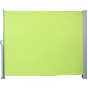 Auvent store latéral brise-vue abri paravent soleil aluminium rétractable hauteur 180 cm longueur 300 cm vert clair