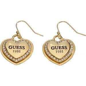 Guess UBE11462 - Boucles d'oreilles coeur doré pour femme