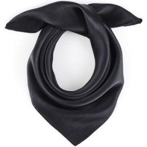 Allée du foulard Carré de soie Piccolo NOIR uni