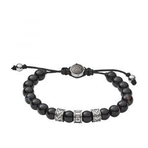 Diesel Bracelet Bijoux DX1101040 - Bracelet Perles Noires Acier Homme