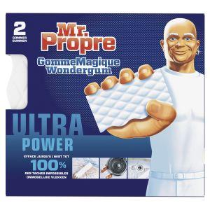Mr. Propre Eponge gomme Magique Wondergum Extra puissante blanches - lot de 2