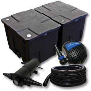 wiltec Kit de filtration de bassin Bio Filtre60000l UVC 36W Pompe Tuyau 25m 053