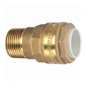 Itap Raccord laiton droit à emboîtement - M 3/4' - Ø 22 mm -Fit
