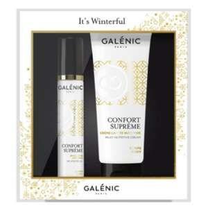 Galénic Coffret Noel Confort Suprême : crème lactée et huile sèche parfumée