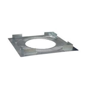 Poujoulat Plaque de distance de sécurité Therminox TI diamètre 130mm Réf PDS130TZ / 20130042