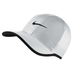 Nike Casquette de tennis Court Aerobill Featherlight - Blanc - Taille Einheitsgröße - Unisex