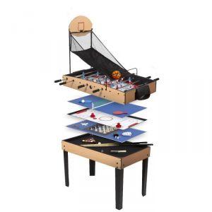 René Pierre Table de jeu multifonctions avec 15 jeux