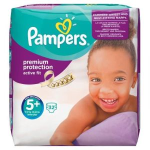 Pampers Active Fit taille 5+ Junior+ 13-27 kg - 32 couches