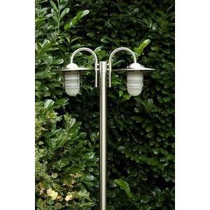 Hofstein Réverbère Rubin Acier inoxydable, 2 lumières - Moderne/Design - Extérieur