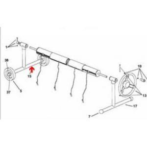 Procopi 1862008 - Pied de rechange côté roue pour enrouleur de bâche de piscine Aquaroll