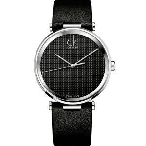 Calvin Klein K1S21102 - Montre Homme - Quartz Analogique - Bracelet Cuir Noir