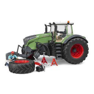 Bruder Toys 04041 - Tracteur Fendt 1050 Vario avec Mécanicien et accessoires de Dépannage vert