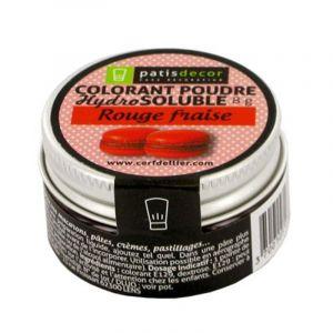 Patisdécor Colorant poudre - rouge fraise - 8 g