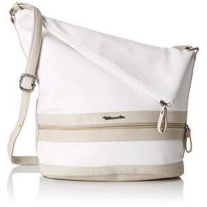 Tamaris Smirne Hobo Bag, Sacs portés épaule femme, Blanc