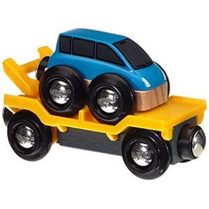 Brio Camion transport de voiture avec rampe