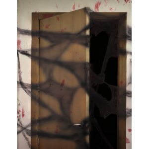 Atosa Décoration toile d'araignée noire avec araignées 20 g Halloween Taille Unique