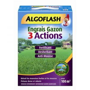 Algoflash Engrais gazon 3 actions 3 kg