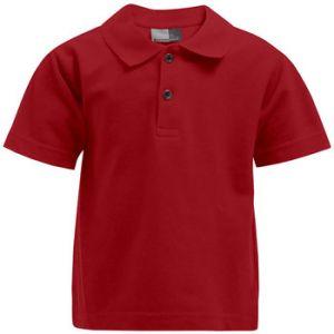 Promodoro Premium Polo Enfants, 140, rouge feu