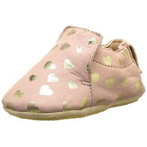 Easy Peasy Blublu Lovely, Chaussures Premiers Pas bébé fille, Rose (531 Guimauve/Or), 18/19 EU