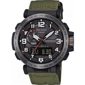 Casio PRO TREK PRW-6600YB-3ER Watch Men, green/silver /black Montres triathlon