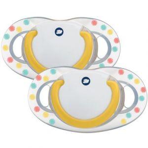 Bébé Confort Set de 2 Sucettes Dental Safe Latex Coloris Mixes Confettis 18/36 m 1 Unité
