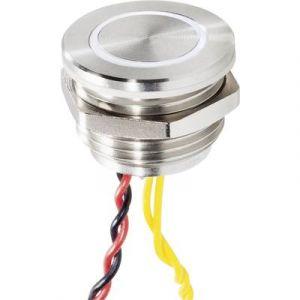 Renkforce Bouton de sonnette 1 prise 1227547 acier inoxydable, blanc 24 V/0,3 A