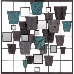 """Décoration Murale Métal """"Miroir"""" 50cm Multicolore """""""